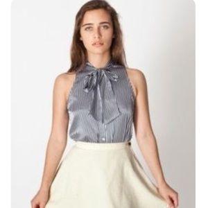 American Apparel secretary pussy blouse sleeveless